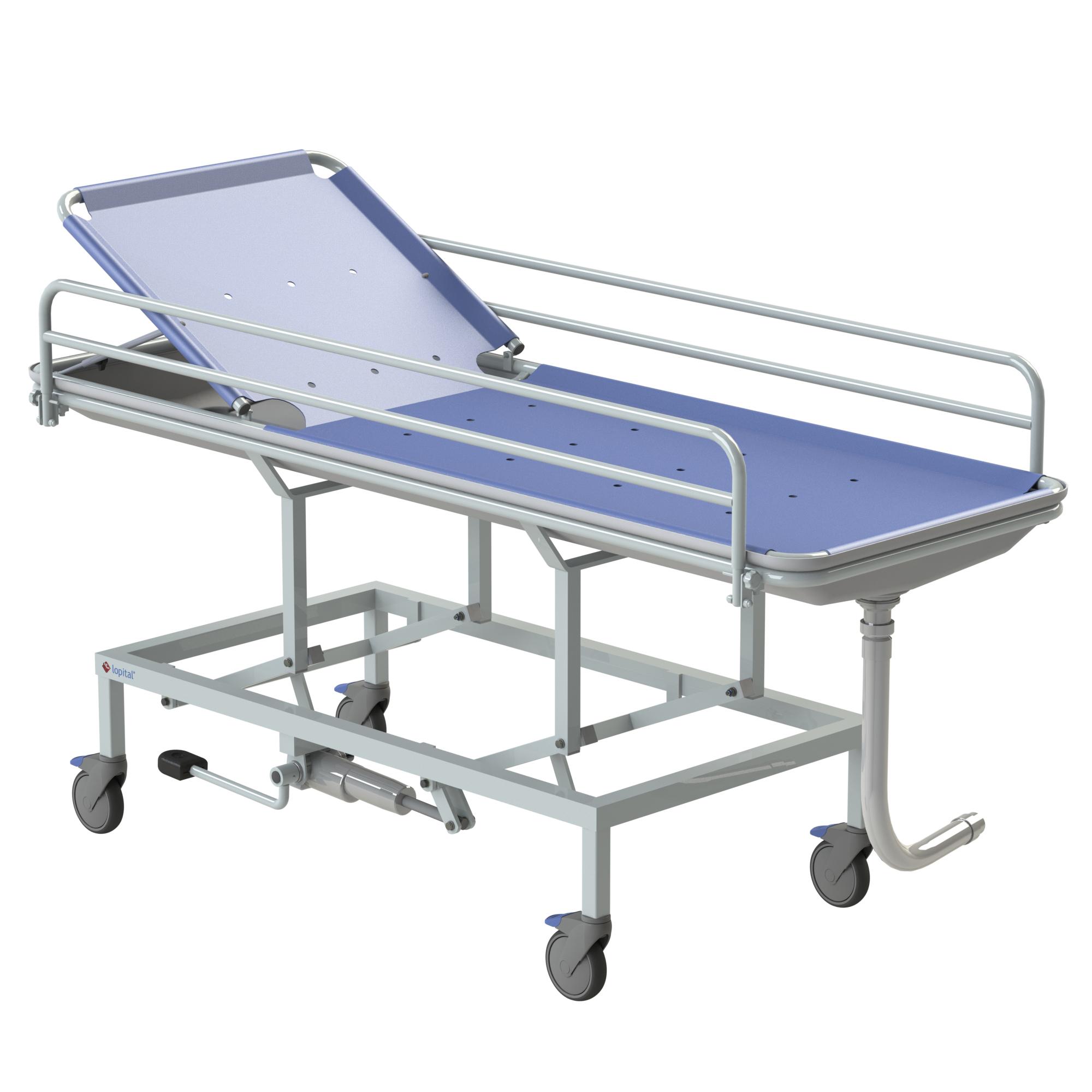 in lit shower bed manual zephyr en medical d by trolley france sotec